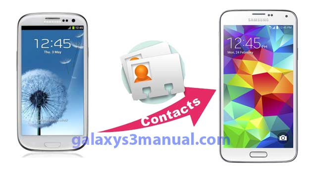 transfer contacts from Galaxy S3 to Galaxy S5