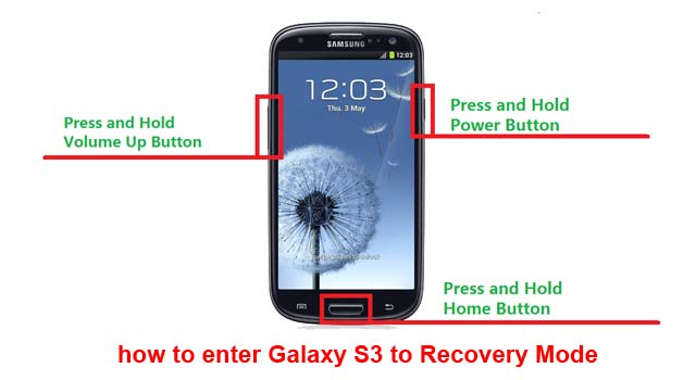 enter recovery mode on Galaxy S3